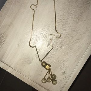 Gold Madewell Ball Necklace